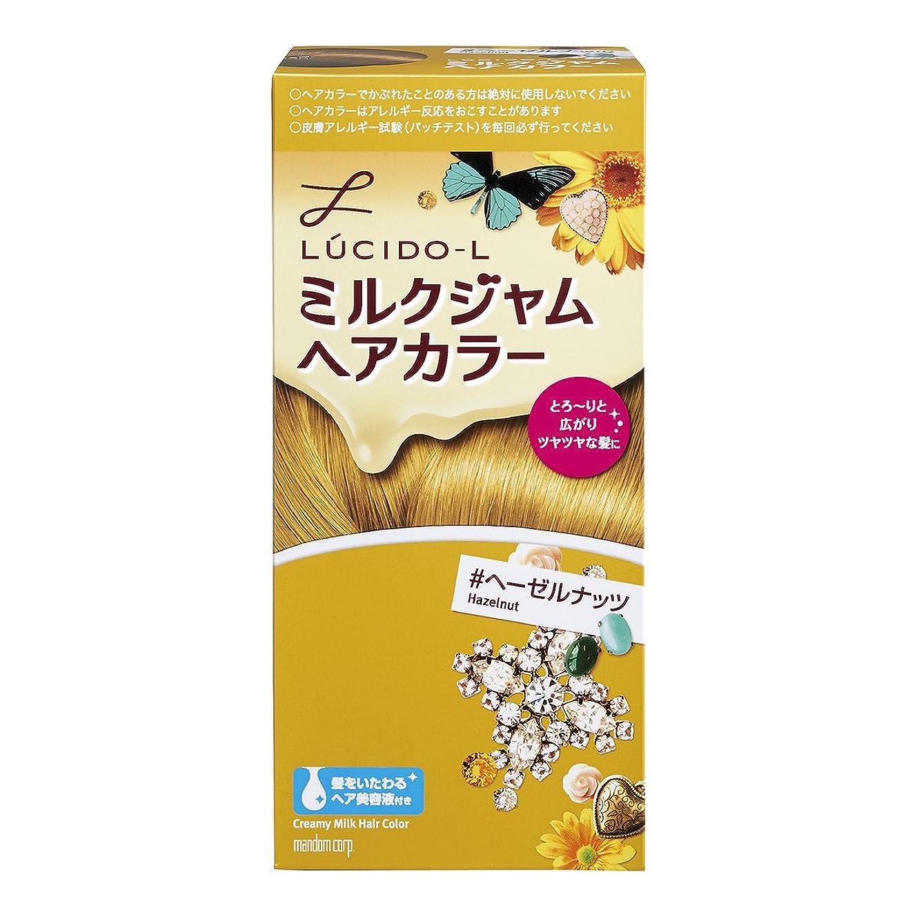 立方体ガロン爆弾LUCIDO-L (ルシードエル) ミルクジャムヘアカラー #ヘーゼルナッツ (医薬部外品) (1剤40g 2剤80mL TR5g)