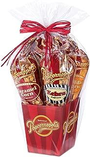 Popcornopolis Gourmet Popcorn 5 cone Gift Basket - Premium