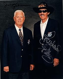 Richard Petty Autographed Photograph - +JUNIOR JOHNSON 8x10 COLOR +COA LEGENDS - Autographed NASCAR Photos