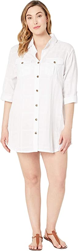Plus Size On Island Time Shirtdress Cover-Up