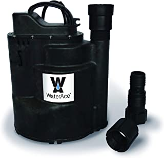 WaterAce WA59UP Submersible Utility Pump, Black
