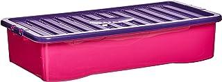Wham Ss 42L U/Bed Box & Lid Pink/Purple 15750_Pink_Purple