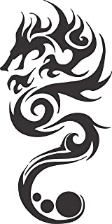 Apollo's Products Chinese Fire Dragon Vinyl Wall Decal (7 X 14 Inches)