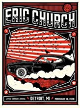 eric church concert posters