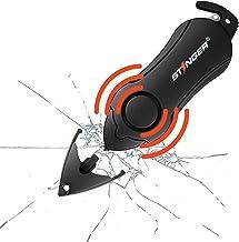 Ferramenta de emergência de alarme pessoal Stinger, cortador de cinto de segurança, disjuntor de vidro (preto)