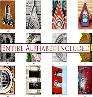 Bulk Letter Art 4x6 Alphabet Photo Set by Name Art. Includes 80 Letter Pics for DIY Name Art Gifts