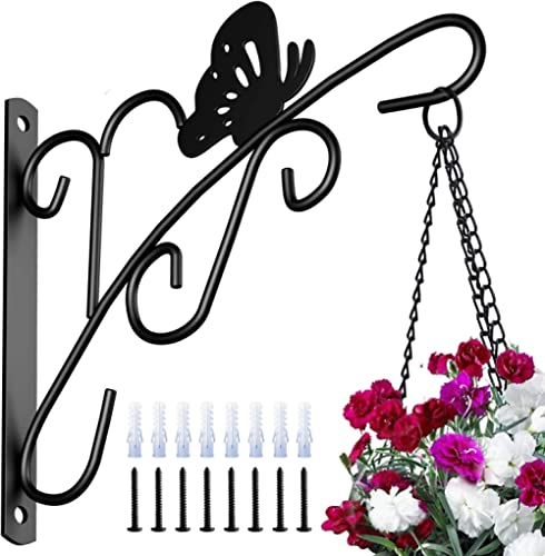 Amagabeli 4 Pack Hanging Plants Bracket 11'' Planter Hooks Hanger Flower Pot Bird Feeder Wind Chimes Lanterns Patio L...