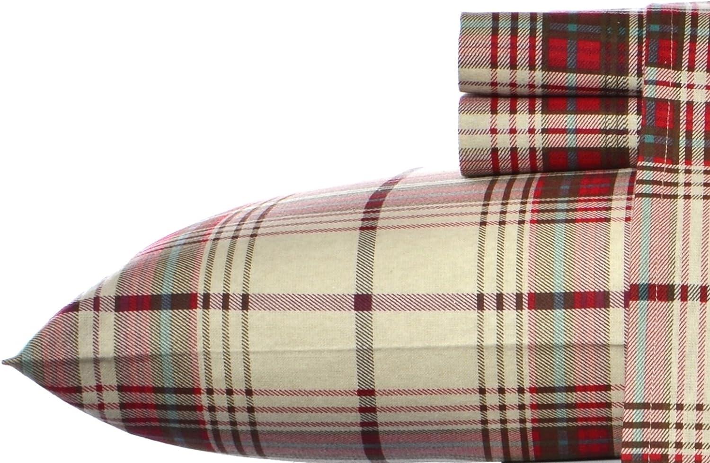 Eddie Bauer Flannel Sheet Set, Full, Montlake Plaid