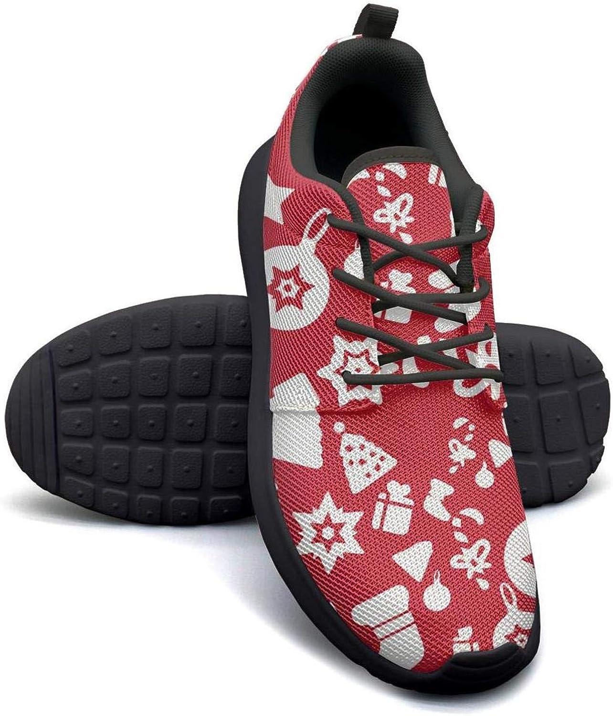 Gjsonmv Christmas Bell Tree pattern-01 mesh Lightweight shoes for Women Non Slip Sports Bike Sneakers shoes