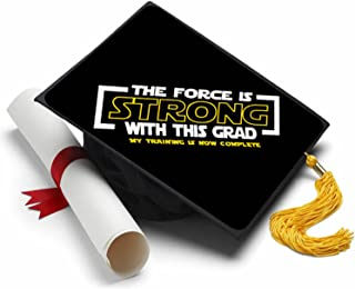 Tassel Toppers The Force is Strong Grad Cap Decorate Your Grad Cap Star Wars Jedi Knight Empire Strikes Back