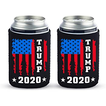 Keep America Great Greatingreat Donald Trump 2020 2 2 Can Coolie Political Drink Coolers Coolies-Black