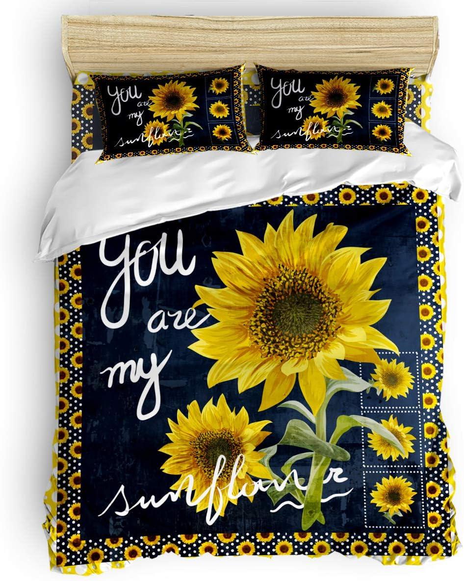 Comforter Regular dealer OFFicial mail order Cover Set Twin Sunflower Texture Duvet White