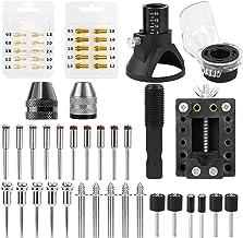 Nishore Kit de acessórios para ferramentas rotativas Lâmina de serra Mandril Mini-mandril de perfuração Localizador dedica...