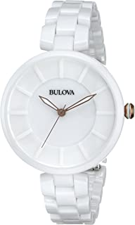 Bulova Women's 98L196 Analog Display Japanese Quartz White Watch