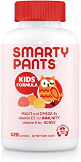 SmartyPants Kids Formula Daily Gummy Multivitamin: Vitamin C, D3, and Zinc for Immunity, Gluten Free, Omega 3 Fish Oil (DH...