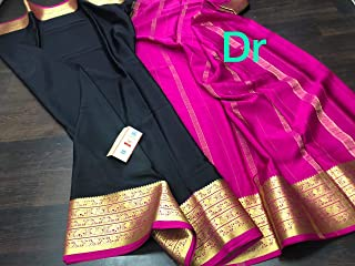 Fashion Vibes KSIC Quality 100gsm Pure Mysore Crepe Silk Saree
