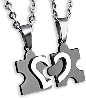 Couples Necklace for Men Women Relationship Promise...