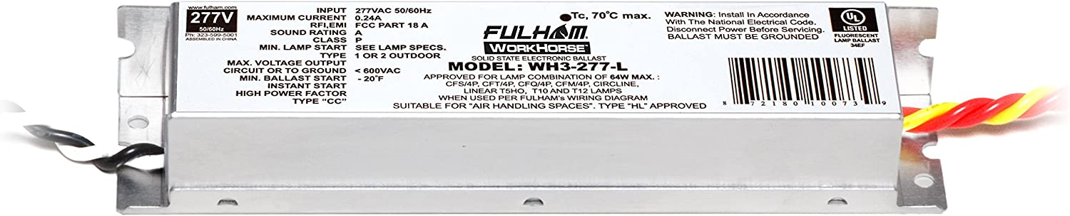 Fulham WH3-277-L WorkHorse In a Ranking TOP11 popularity Adaptable - Ballast 277V