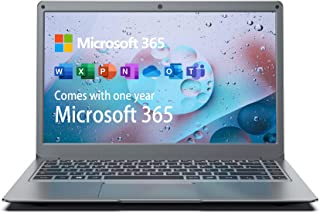 Jumper Bärbara datorer 13.3-tums (Microsoft 365, 4GB 128GB, FHD Notebook, Windows 10 laptop, Intel CPU, Dualband WLAN, Stö...