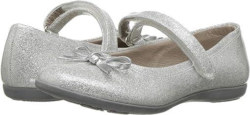 Silver Glitter Patent