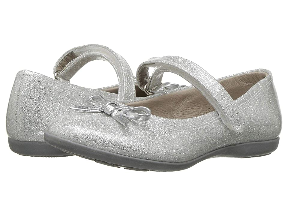 Kid Express Rosie (Toddler/Little Kid/Big Kid) (Silver Glitter Patent) Girls Shoes