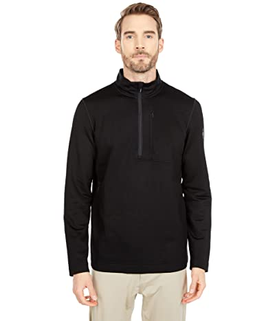 Smartwool Merino Sport Fleece 1/2 Zip (Black) Men