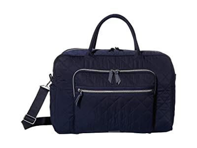 Vera Bradley Performance Twill Weekend Travel Bag (Classic Navy) Carry on Luggage