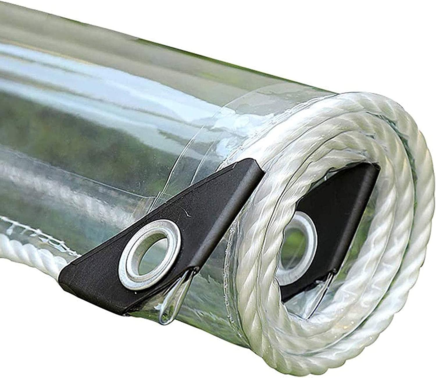 FOGUO Long Beach Mall Free shipping on posting reviews Transparent Tarp Waterproof Tarps with Clea Grommet3x10F