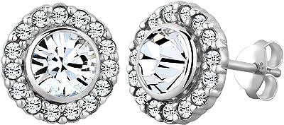 Elli - 0310730113 - Boucles d'Oreille Femme - Argent 925/1000 - Cristal Swarovski