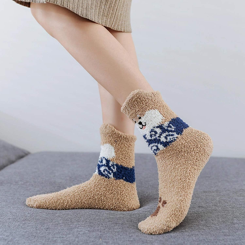 Calzini Pantofola Termica Calzini Casual da Donna Ragazze 5 Pacco TAGVO Invernali Babbucce Calzini Soffici Calzini