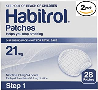 Novartis Habitrol 21mg Nicotine Patches, Step 1. Stop Smoking. 2 boxes of 28 each (56 patches)