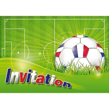 Edition Colibri Lot De 12 Cartes D Invitation Foot En Francais