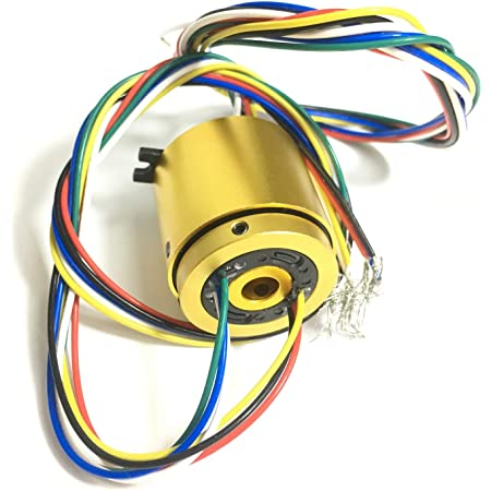 Taidacent Through Hole Conductive Rotary Slip Rings Electrical Brush Ring Rotating Electrical Connector Slip Ring Aperture 5mm 12 way 2A
