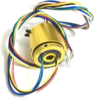 Taidacent Through Bore Electrical Slip Ring Rotary Electrical Contact 6/12/18/24 Wire Rotate Conductive Energization Colle...