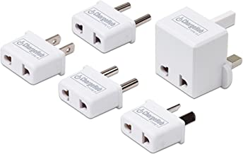 International Travel Adapters for ChargeHub X3/X5/X5+ Elite/X7 Signature for iPhone 7/6s/Plus, iPad Pro, Samsung Galaxy S8/S7, Google Pixel, LG, Nexus, HTC and More (White)