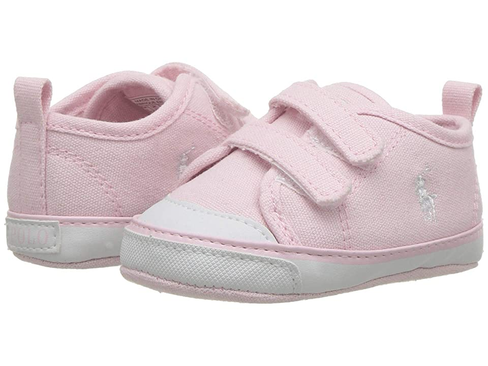Polo Ralph Lauren Kids Camden II EZ (Infant/Toddler) (Light Pink Canvas/White PP) Girl