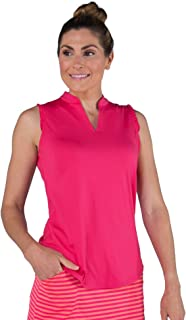 Jofit Apparel Women's Athletic Clothing Cutaway Ruffle Mock for Golf & Tennis