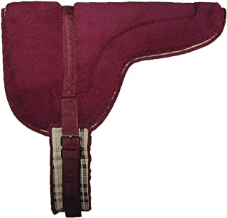 "Kensington Fleece Bareback Pad — Heavy Duty Saddle Fleece with 1"" Thick Foam Center — Measures 29"" Long and 36"" Wide"