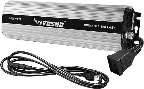 new arrival VIVOSUN 1000 watt Dimmable Digital Ballast for HPS outlet sale MH Grow Light, UL Listed outlet online sale & Soft Start Program outlet online sale