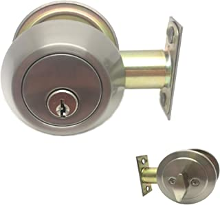 Colester Direct Brushed Satin Nickel Door Lever; Entry/Privacy/Passage/Dummy/Deadbolt (Deadbolt - Keyed Different)