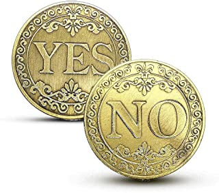 Non-currency Coins - YES or NO Commemorative Coin Floral YES NO Letter Ornaments Collection Arts Gifts Souvenir Enthusiast...