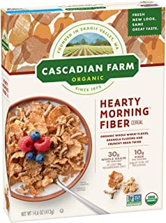 Cascadian Farm Organic Hearty Morning Fiber Cereal 14.6 oz Box