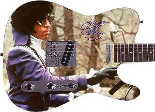 Prince Autographed Signed Custom Graphics Guitar