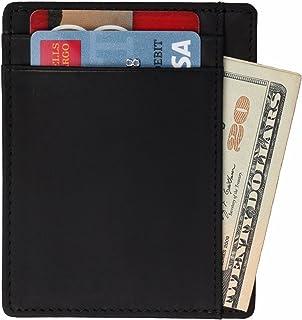 WILDHORN Black Leather Unisex Wallet (USW003)