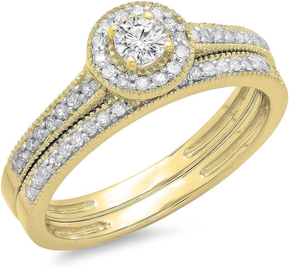 Dazzlingrock Collection 0.50 Carat ctw Max 80% OFF Diamond 14K Gold [Alternative dealer] Round