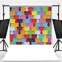 Seamless Gummy Bears Candies Background Theme Backdrop Cartoon Backdrops Photography Backdrop,081160,10x20ft