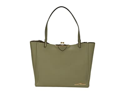 Marc Jacobs The Kisslock Tote (Cactus Green) Handbags