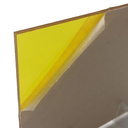"Transparent Yellow # 2208 Acrylic Plexiglass Sheet 1//8/"" Thick 24/"" x 36/"""
