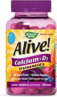 Nature's Way Alive Calcium D3 Gummies, 60 Gummies