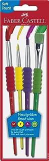 Faber-Castell Soft Grip Paint Brush Set - Kids Paint Brushes - 4 Pack